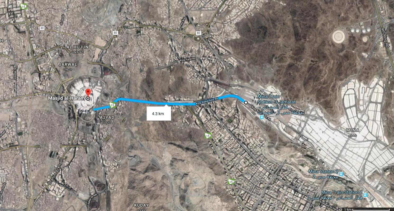 Map Mina To Makkah Hajj